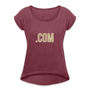 .COM - Women's T-shirt with rolled up sleeves