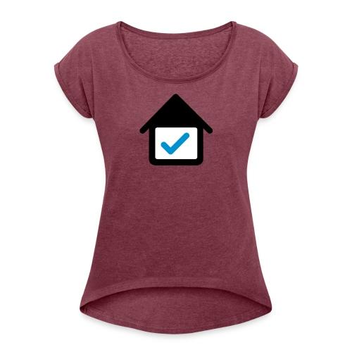 Studentenwohnung-einrichten.de - Frauen T-Shirt mit gerollten Ärmeln