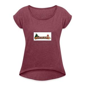 IMG 0590 - Vrouwen T-shirt met opgerolde mouwen