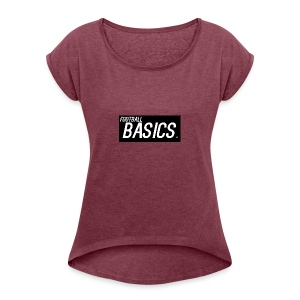 BLACK_AND_WHITE - Women's T-shirt with rolled up sleeves