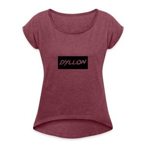 dyllonUntitled-1 - Women's T-shirt with rolled up sleeves