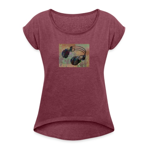 Fashion (dance music) - Women's T-Shirt with rolled up sleeves