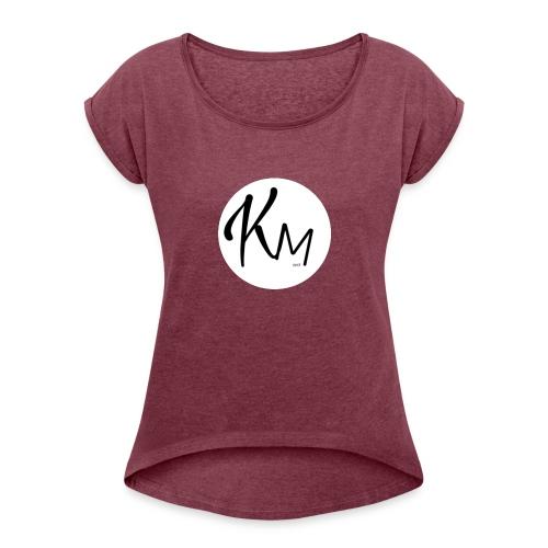 KM Logo - Frauen T-Shirt mit gerollten Ärmeln
