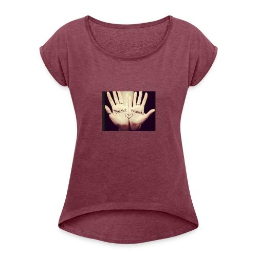 Best friends et deux mains ! - T-shirt à manches retroussées Femme