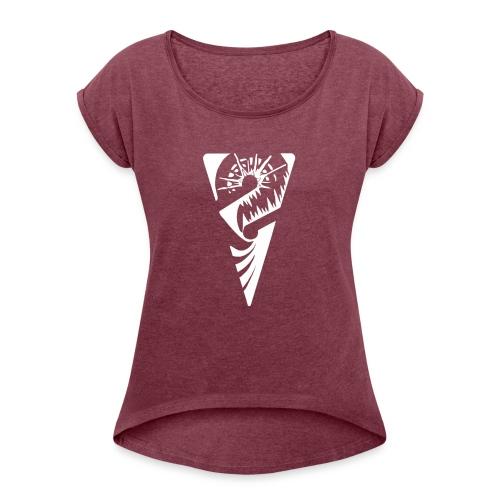 logo 1077x651 - Frauen T-Shirt mit gerollten Ärmeln