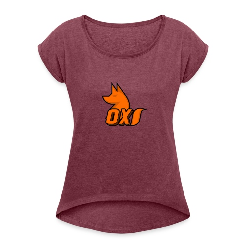 Fox~ Design - Women's T-Shirt with rolled up sleeves