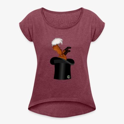 Mikkel Rev - T-skjorte med rulleermer for kvinner