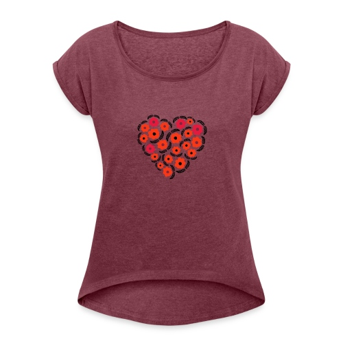 floreale - Maglietta da donna con risvolti
