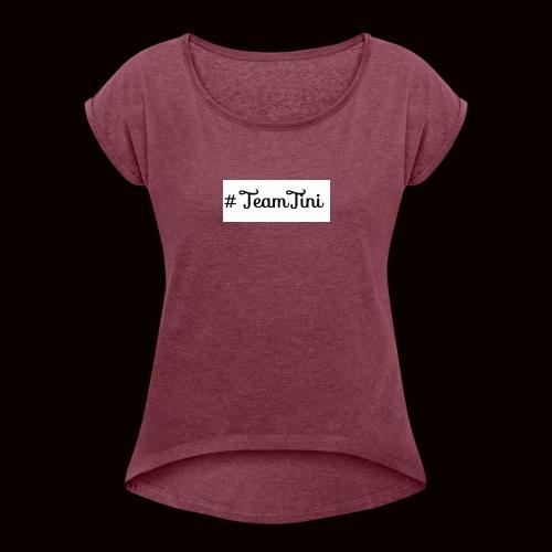 2017 11 26 11 41 46 130 1 - Frauen T-Shirt mit gerollten Ärmeln