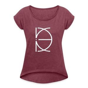 CRONE BLACK - Frauen T-Shirt mit gerollten Ärmeln