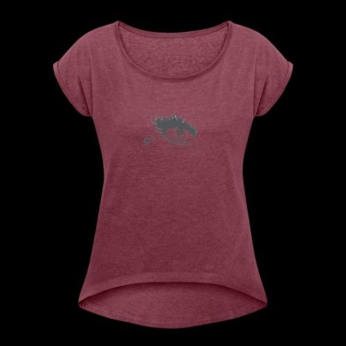 Lashy - Frauen T-Shirt mit gerollten Ärmeln