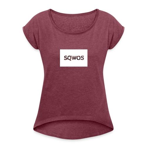 Naamloos - Vrouwen T-shirt met opgerolde mouwen