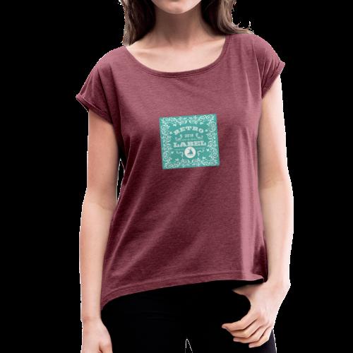 geweihbär RETRO 2018 - Frauen T-Shirt mit gerollten Ärmeln