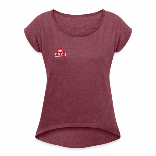 Faz3 Crown Prince - Women's T-shirt with rolled up sleeves