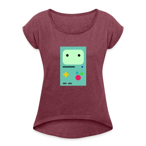 Bmo Phone Case - Women's T-Shirt with rolled up sleeves