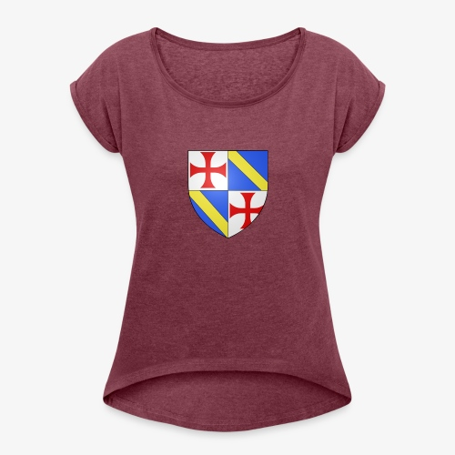 Armoiries Jacques de Molay - T-shirt à manches retroussées Femme