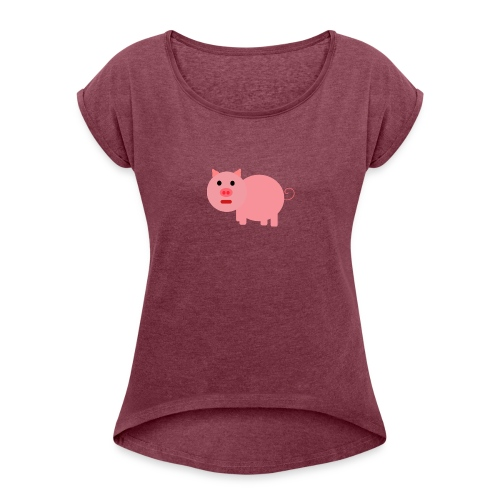 Pig Mad - Women's T-Shirt with rolled up sleeves