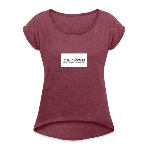 e92922999c7e0dc430593d8282971829 - T-shirt à manches retroussées Femme