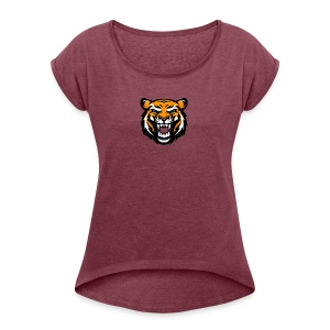Tiger - Women's T-shirt with rolled up sleeves