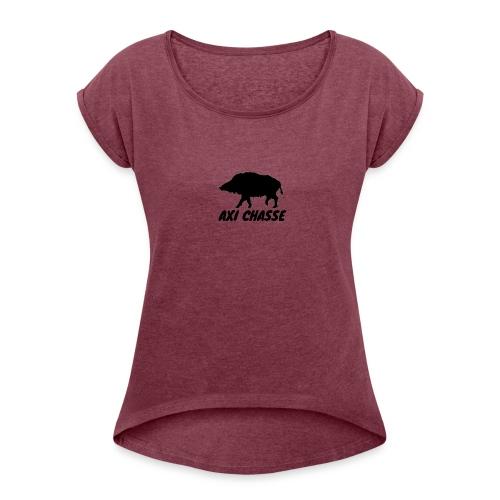 AXI Chasse - T-shirt à manches retroussées Femme