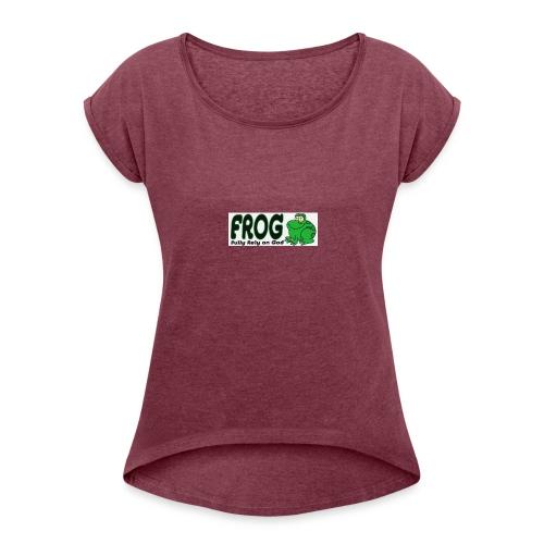 FROG - Vrouwen T-shirt met opgerolde mouwen