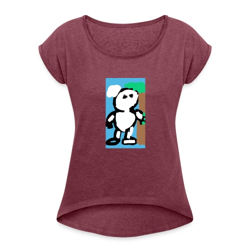 My_picture_15e3a009-de4e-43d4-8b17-af4a63f89127 - Vrouwen T-shirt met opgerolde mouwen