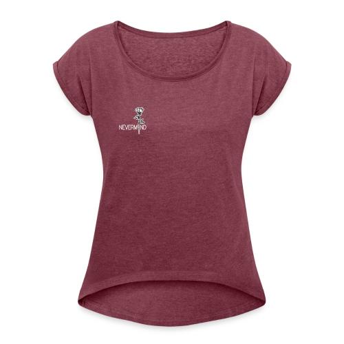 Rose2 - Frauen T-Shirt mit gerollten Ärmeln