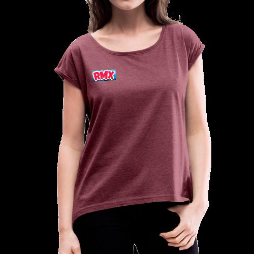 RMX / ILIMITADO - Camiseta con manga enrollada mujer
