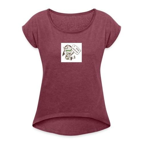 Genji I NEED HEALING - Frauen T-Shirt mit gerollten Ärmeln
