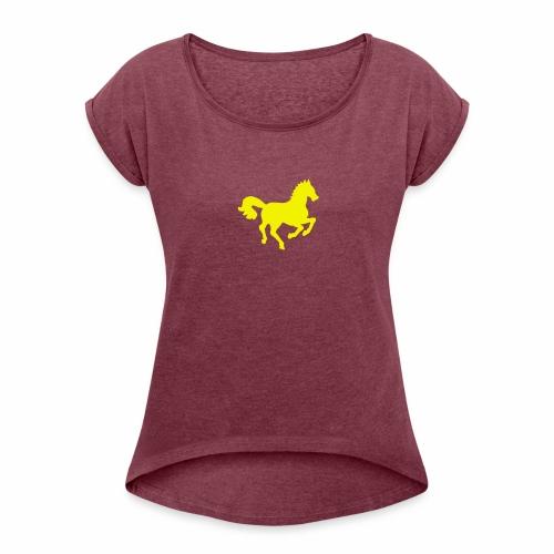 Petit cheval Hippocamp - T-shirt à manches retroussées Femme