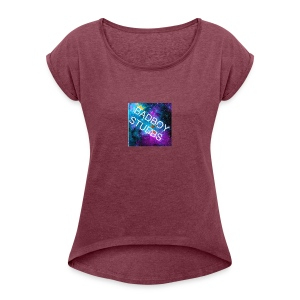T-Shirts (Logo) - Women's T-shirt with rolled up sleeves
