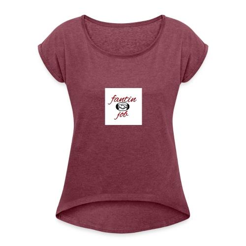 fantin job - Maglietta da donna con risvolti