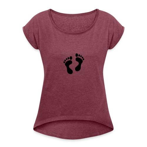 950 512 - Frauen T-Shirt mit gerollten Ärmeln