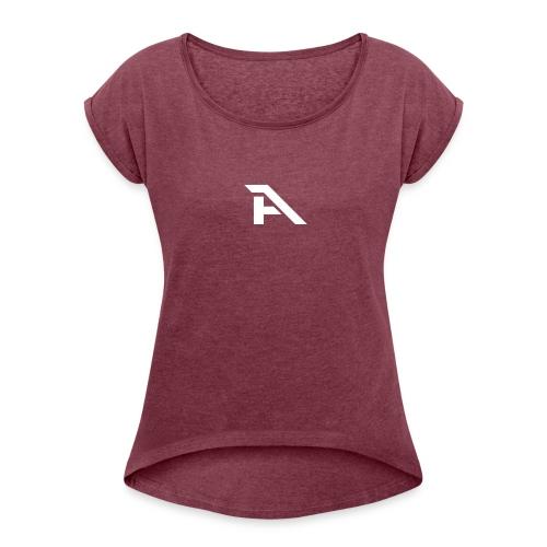 Aura Logo-(P. & White) - Maglietta da donna con risvolti