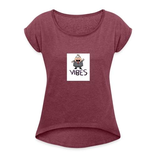 BossVibes version 3 - Dame T-shirt med rulleærmer