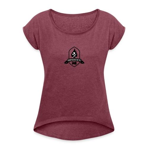 KampKookStaf kader - Vrouwen T-shirt met opgerolde mouwen