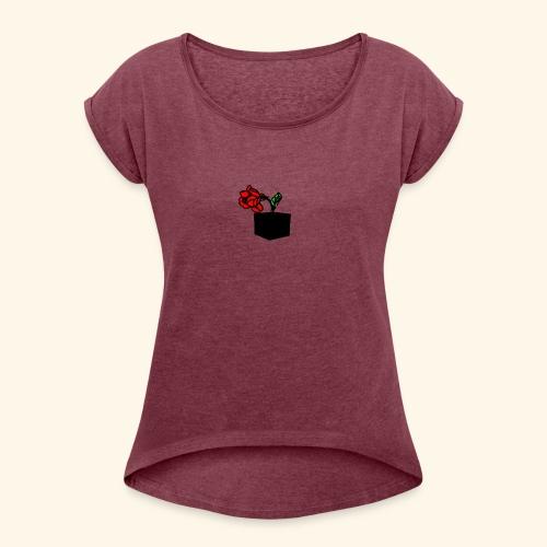 rose cube - T-shirt à manches retroussées Femme