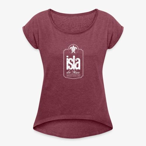 Logotipo White Isla de Mar - Camiseta con manga enrollada mujer