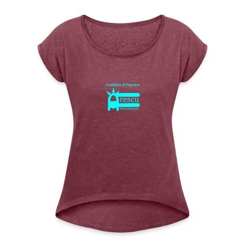 AFrescu - T-shirt à manches retroussées Femme