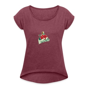 Lumberjacks Logo - T-shirt med upprullade ärmar dam