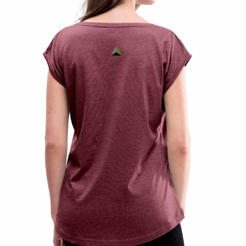 MyLogoTriangleGreen101 - Women's T-Shirt with rolled up sleeves