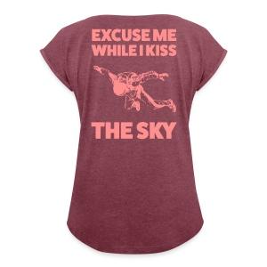 Excuse me - Frauen T-Shirt mit gerollten Ärmeln
