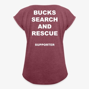 BSAR Supporter Text - Women's T-shirt with rolled up sleeves
