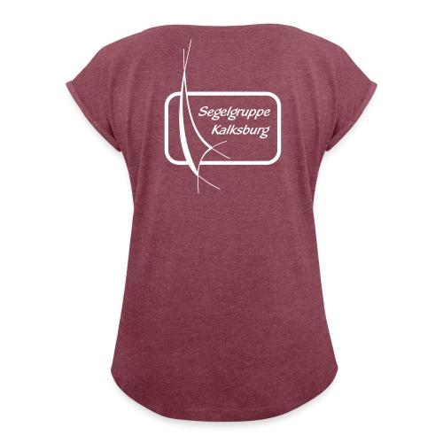SGK Logo S/W - Frauen T-Shirt mit gerollten Ärmeln