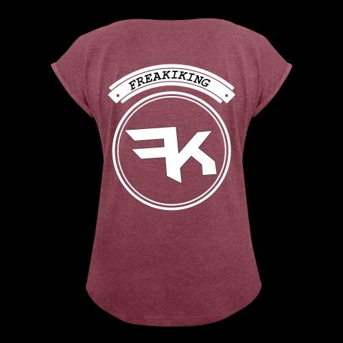 Merch 1 - Frauen T-Shirt mit gerollten Ärmeln