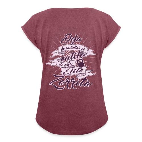 Culito Elite Zorrita - Camiseta con manga enrollada mujer