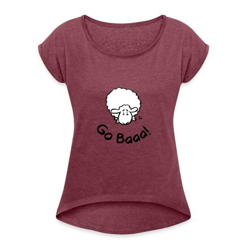 ¡Las ovejas van baaa! - Camiseta con manga enrollada mujer