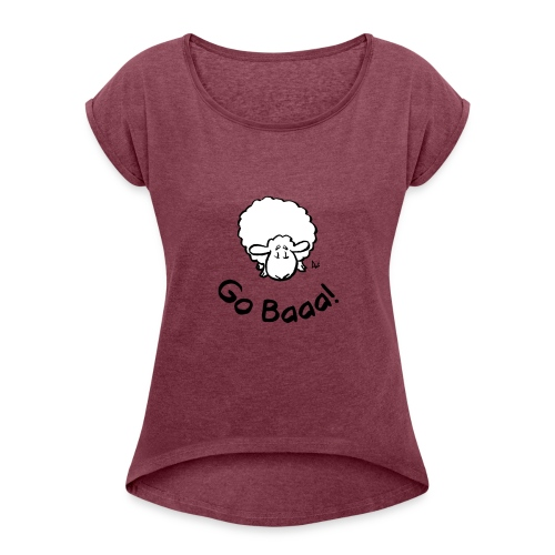 Les moutons vont Baaa! - T-shirt à manches retroussées Femme