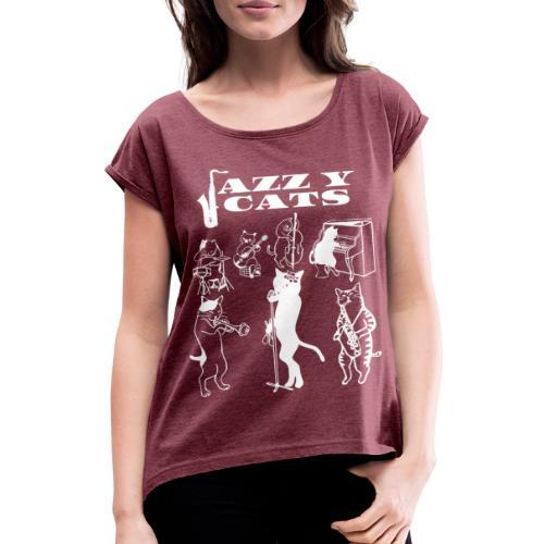 Jazzy Cats - T-shirt à manches retroussées Femme
