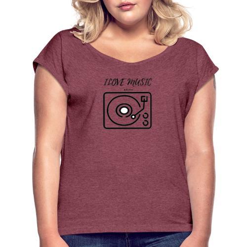 oie transparent - Camiseta con manga enrollada mujer